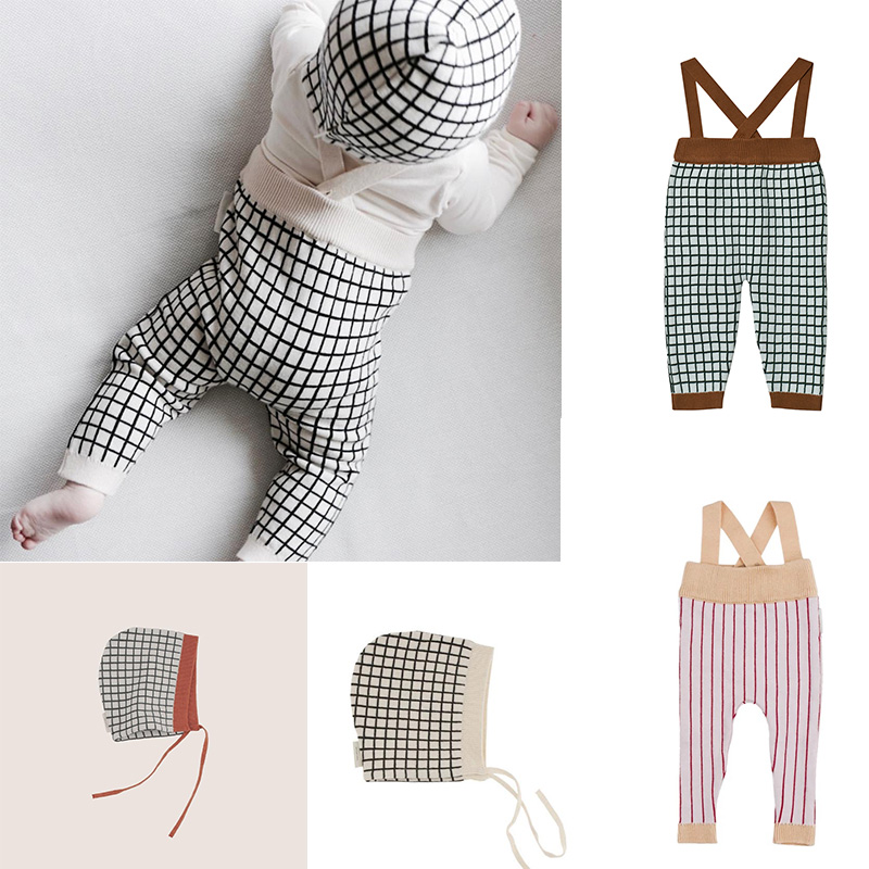 10.19US $ 29% OFF New Autumn Toddler Overalls Baby Suspender Pants Stripe Knitting Baby Boy Overalls...