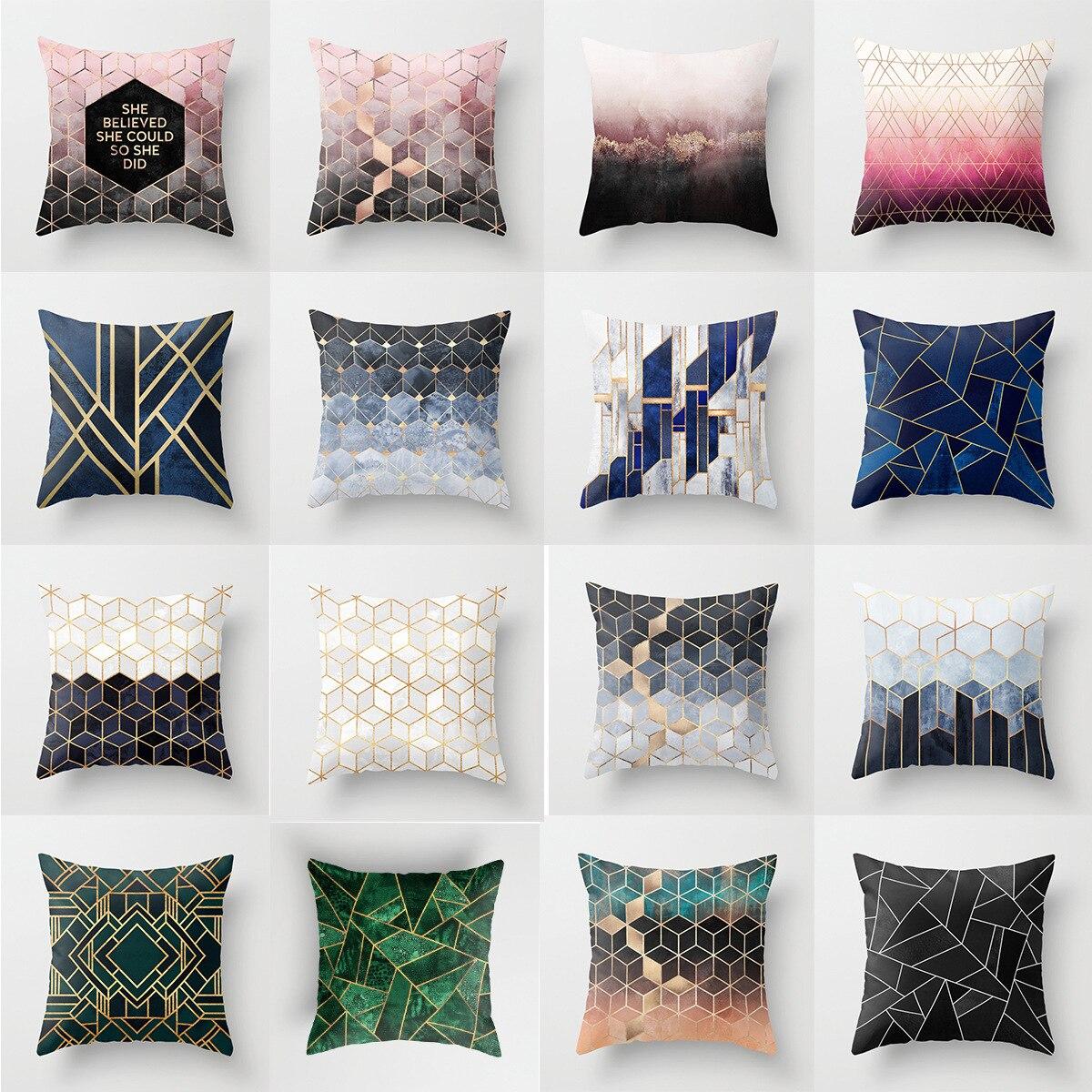 Pink Style Sofa Waist Throw Cushion Case For Home Decor Sofa Cushions Cojines Decorativos Almofadas Para Sierkussen DRD15
