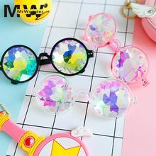 ФОТО mrwonder sunglasses retro round kaleidoscope sunglasses men women designer kaleidoscope glasses cosplay goggles yi0