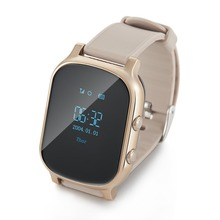 GPS tracker watch for kids elderly Seniors SOS Call Location Finder heart rate monitor GSM GPRS Tracker