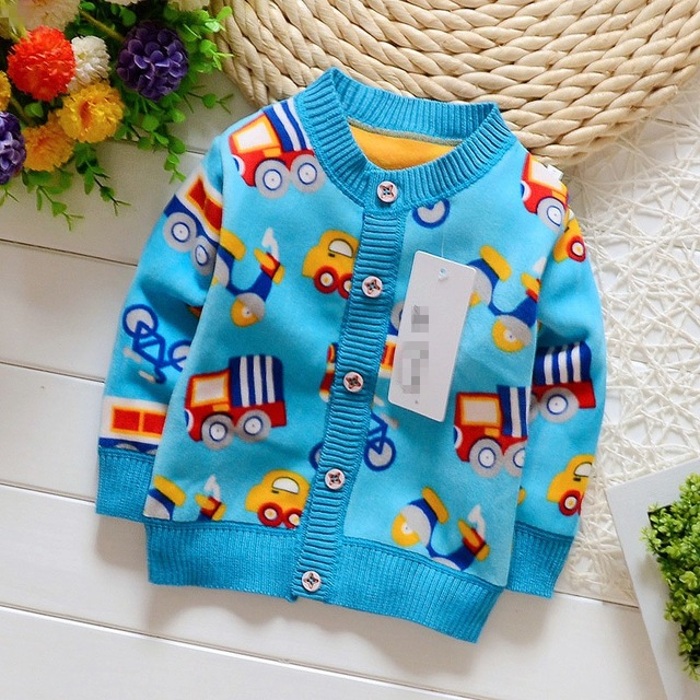 NYSRFZ baby girls boys autumn/winter wear warm fox cartoon sweaters children pullovers outerwear baby sweater free shipping Q190