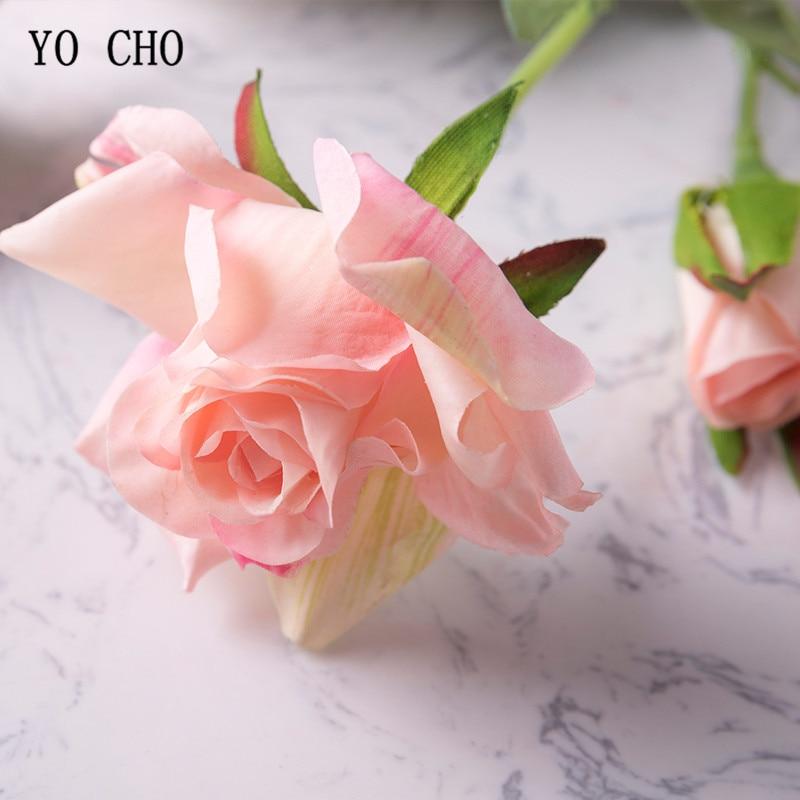 YO CHO bridal bouquet pink wedding flowers bridal bouquets fabric ...