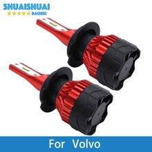 2 предмета автомобилей головной светильник лампа светодиодный H1 H7 H4 H11 9005 CSP 8000Lm 6500K 12V авто светильник для Volvo XC70 S60 S80 V40 V70 S40 XC90