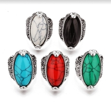 2pcs /lots Vintage Antique Silver Carved Oval stone Irregular Punk Style Cocktail Party Rings for Women