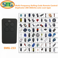 2X Free Shipping Universal Multi Frequency 280 870mhz Key Fob Garage Door Remote Control Rolling Code