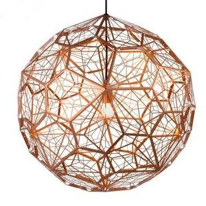 Image 3 - Réplica de web etch luminária de luz pingente moderna, lâmpada para sala de estar estudo cozinha