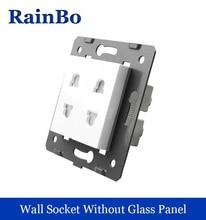rainbo  2-hole multifunction socket parts socket White Plastic Materials DIY Accessory Function Key  EU Standard A82TS