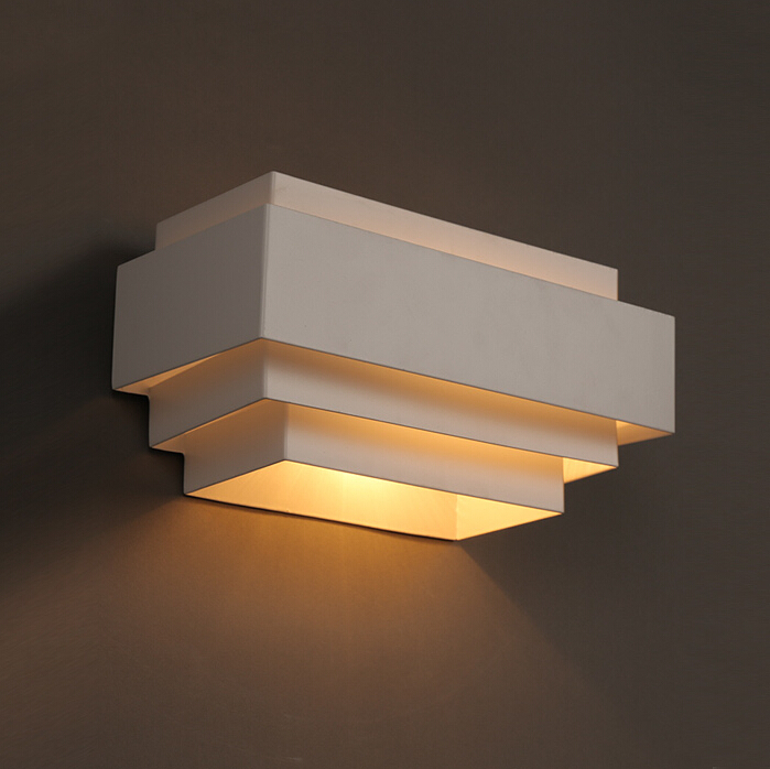 Aliexpress Com Buy Modern Wall Lamp White Multilayer Structure Dining Room Sitting Room Bedroom Led Wall Light From Reliable Led Motor Suppliers On