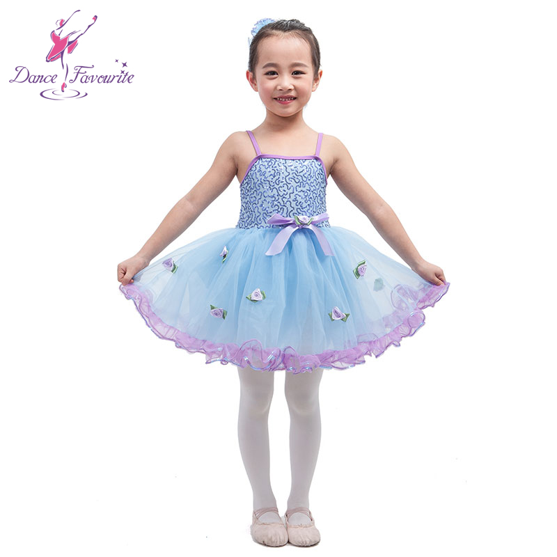 Beautiful girl performance ballet tutu, pale blue sequin top bodice, girl dance costume ballet tutu