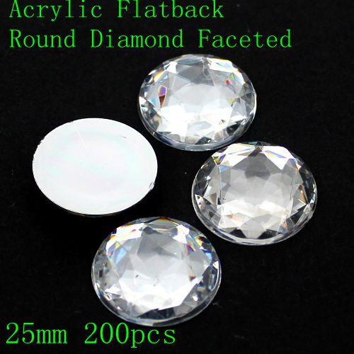 Acrylic Rhinestones Flat Back Round Special Faceted Many Sizes Crystal Color Round Glue On Beads DIY Wedding Dress Decorations semantic association of faceted taxonomies