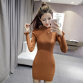 2017 Spring Women Sweater Dress Fashion Knit Long Pullovers Vestidos Sweater Sexy Bodycon Dress High Elastic Sweater Pull Femme