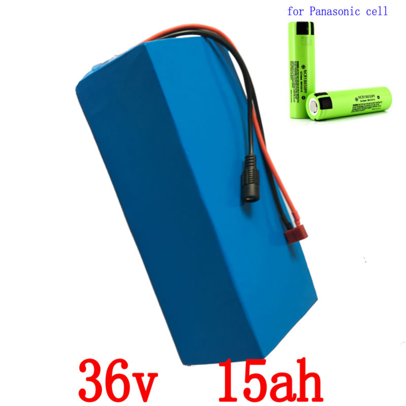 Free shipping 36V 15AH 1000W Use for Panasonic cell Electric bike Battery 36V 14.5AH 1000w with PVC case 30A BMS and 2A charger free customs taxes super power 1000w 48v li ion battery pack with 30a bms 48v 15ah lithium battery pack for panasonic cell