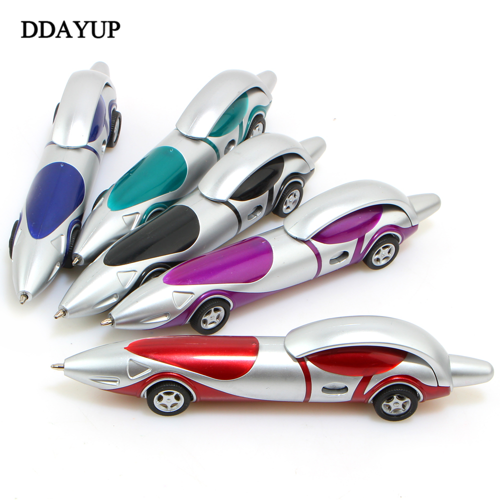 Funny Novelty Design Ballpoint Pen Racing Car Child Kids Toy Gift Shape Office Child Kids Toy Drawing Toys plastic toy funny game pinart 3d clone shape pin art shoumo variety colorful needle child get face palm model 1pc free shipping