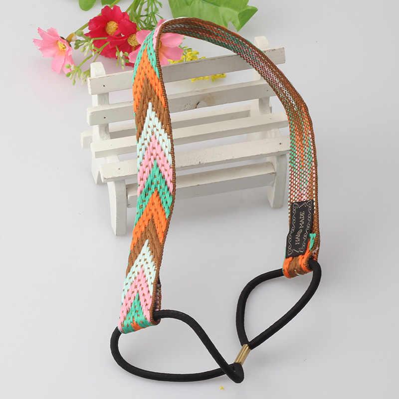 M MISMO Bohemian Bordados Étnicos Do Vintage Headband Da Flor Para As Mulheres Menina de Alta Qualidade Elastic Faixa de Cabelo Retro Acessórios Para o Cabelo