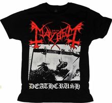 T 셔츠 MAYHEM DEATHCRUSH 다른 크기. 금속 밴드 국가. 새로운 100% 코튼 레터 프린트 티셔츠 탑 티 플러스 사이즈