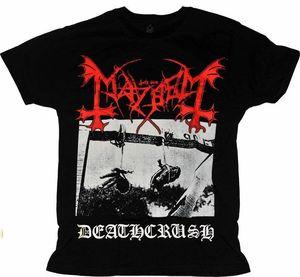 Image 1 - T shirt Mayhem Deathcrush Verschillende Grootte. Een Metalen Band Natie. Nieuwe 100% Katoen Brief Bedrukte T Shirts Top Tee Plus Size