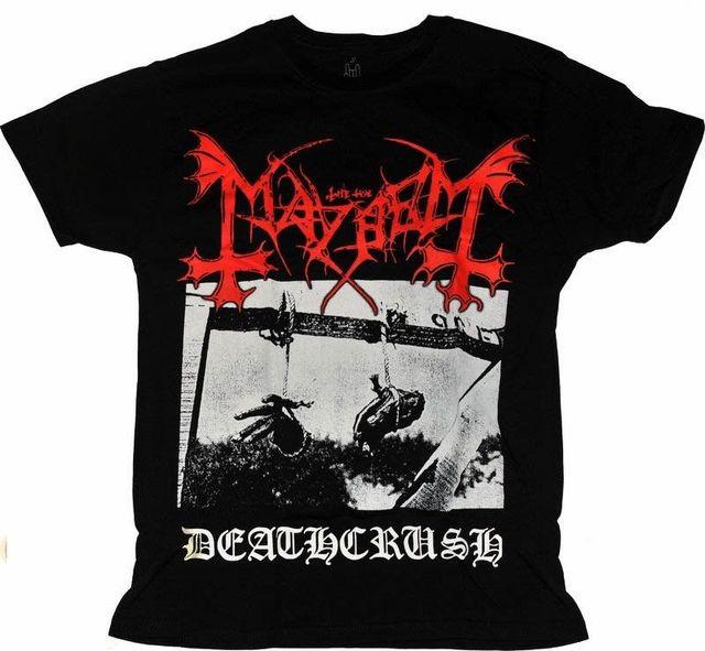 T shirt Mayhem Deathcrush Verschillende Grootte. Een Metalen Band Natie. Nieuwe 100% Katoen Brief Bedrukte T Shirts Top Tee Plus Size
