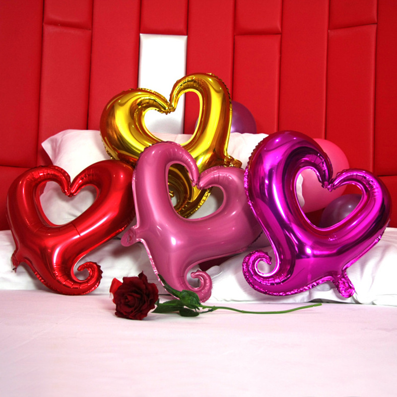 18 Inch Hook Heart Shape Foil Balloon Romantic Valentine's Day Wedding Decoration Birthday Party Inflatable Helium Air Balloons