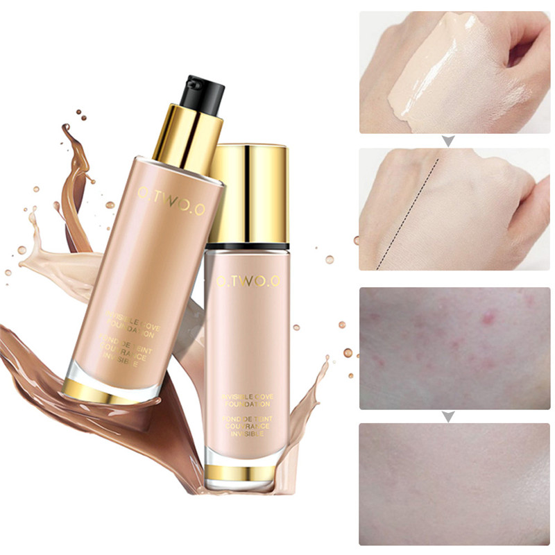 O.TWO.O 8 Colors Make Up Foundation Beauty Waterproof Flawless Coverage Base Cosmetics Liquid Foundation Cream Makeup Primer праймер absolute new york flawless face foundation primer 82 цвет nf082 lavender variant hex name e8dcea