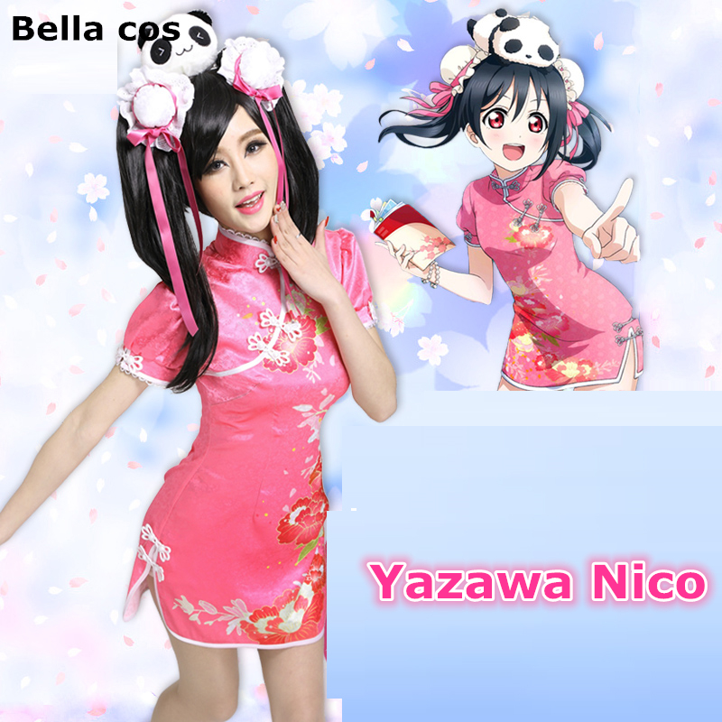 973202bb8 Custom size Lovelive cheongsam chinese qipao dress Hoshizora Rin cosplay  costume uniform Halloween Carnival Anime Expro outfit -in Anime Costumes  from ...