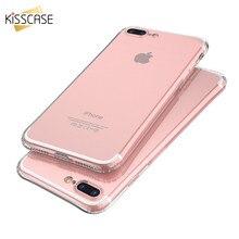 KISSCASE Ультра Тонкий Прозрачный Телефон Case Для iphone 6 6s plus 7 7 плюс Высокая Прозрачность Силиконовый Анти Стук Case Для iPhone 6
