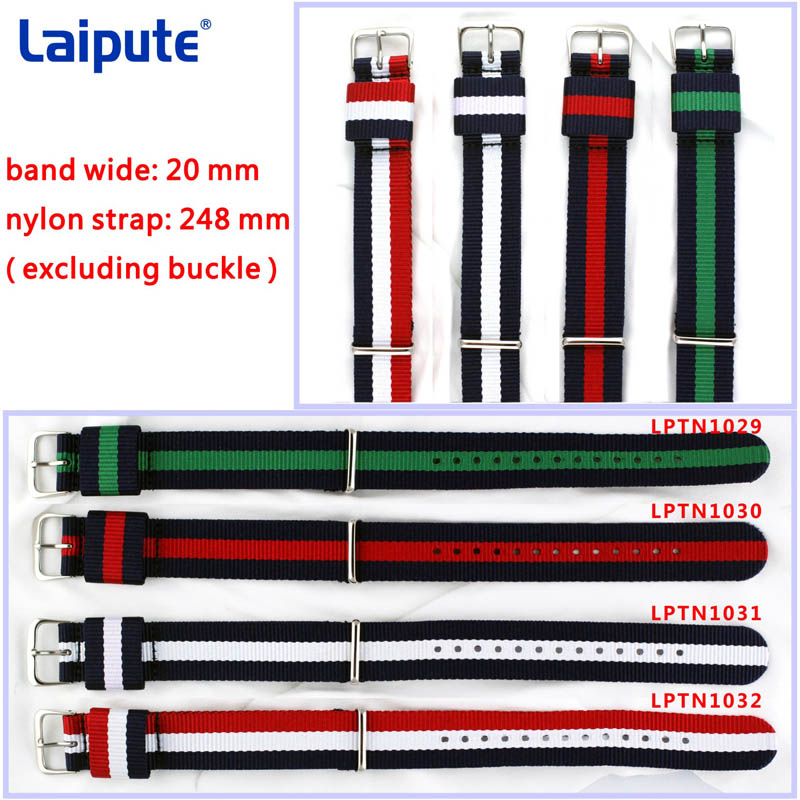 New Nato Strap 20mm Watchband Silver Buckle Army Military Nylon Watch Band Bracelet For Watch Bracelet 20 MM belts-for-hours 2018 new style nato strap 16mm watchband silver buckle army military nylon watch band bracelet for watch bracelet 16 mm