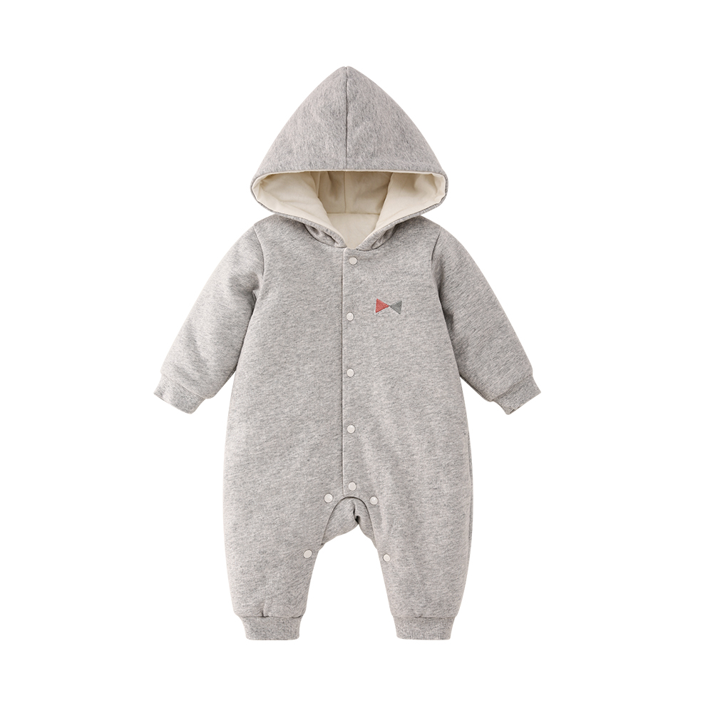 Pureborn Unisex Cute Bear Baby Rompers Winter Thicken Hooded Jumpsuit Coveralls Baby Girl Boy One Piece Christmas New Year Gift tribros winter style baby clothes baby girl boy clothes cute bear hoodie thicken jumpsuits baby costume coveralls rompers