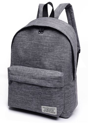 Solid Canvas Backpack Large Laptop Backpack Student School Teenagers Travel Backpacks Mochila