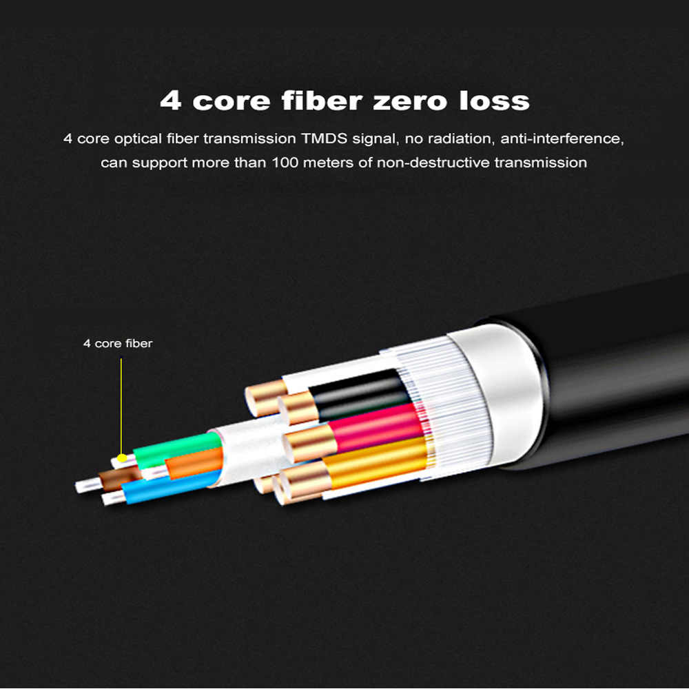 HDMI Serat 4 K 60Hz HDMI Kabel Fiber Optic 2.0 2.0a HDR untuk HD TV Box Proyektor PS4 Kabel HDMI 2 M 3 M 5 M 10 M 15 M 30 M 50 M-100 M