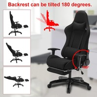 Newest Ergonomic Reclining Racing Chair With Armrest Comfortable Executive Computer Chair Revolving Gaming Recliner