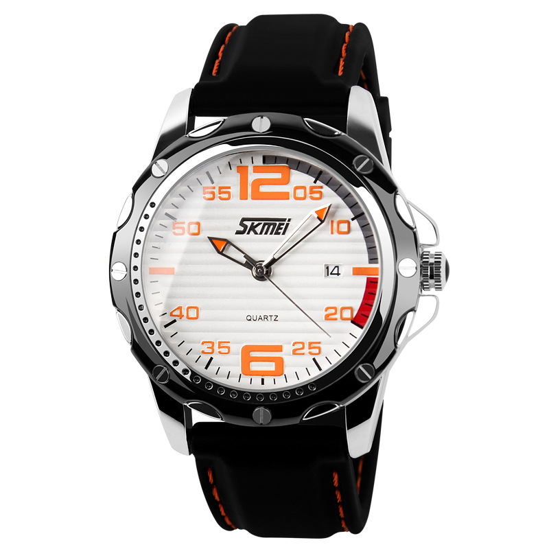 Famous Brand SKMEI Sport Jelly Quartz Men Casual Watch Calendar Date Work For Luxury Brand Men Dress Wristwatch 30M Waterproof
