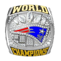 Classic Fans Collection Ring Band 2016 New England Patriots Championship Ring Super Bowl Blingbling Jewelry Mens