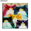 Frameless Picture Painting By Numbers DIY Coloring By Numbers On Canvas Colorful Cats Home Decor 40