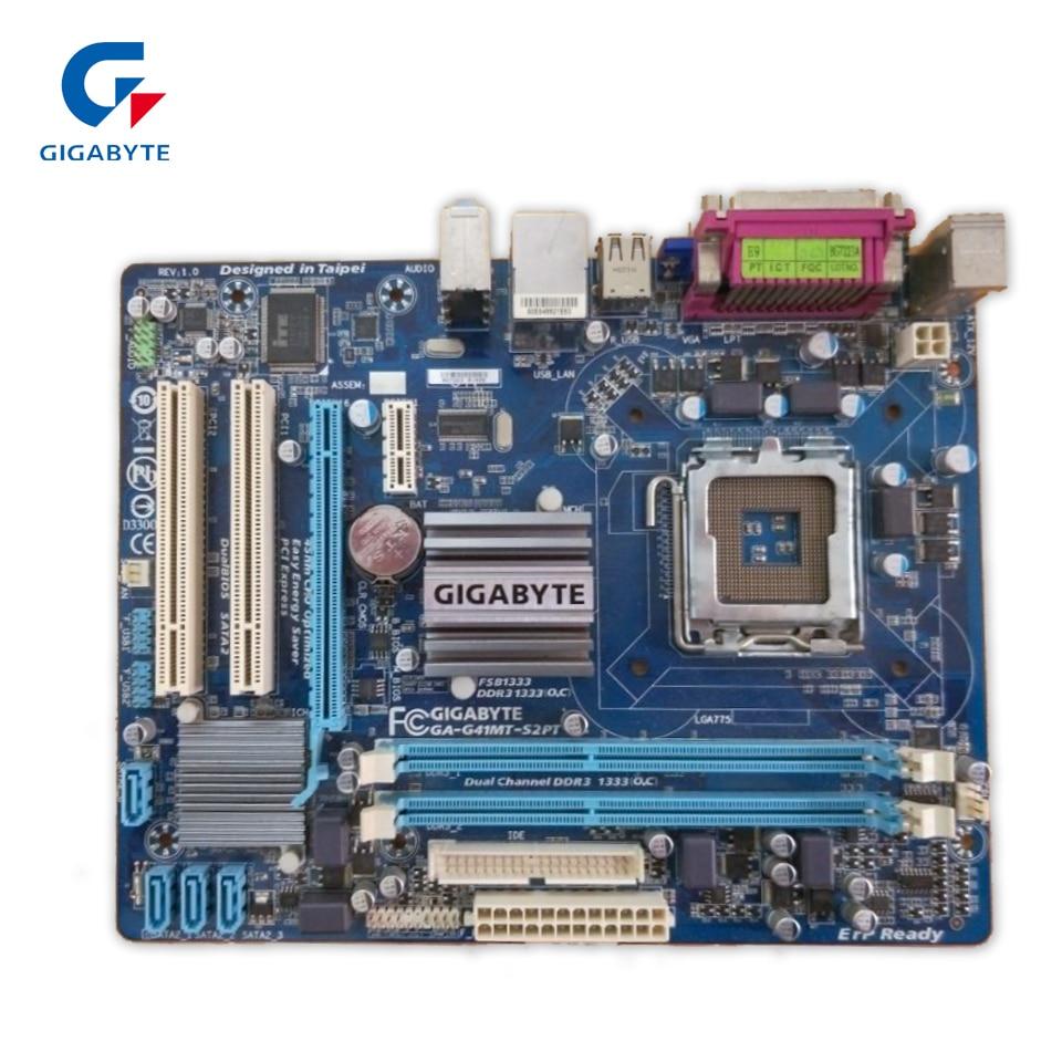 Gigabyte GA-G41MT-S2PT Original Used Desktop Motherboard G41MT-S2PT G41 LGA 775 DDR3 8G SATA2 USB2.0 Micro-ATX original motherboard for gigabyte ga g41mt s2 lga 775 ddr3 board g41mt s2 fully integrated g41 desktop motherboard free shipping
