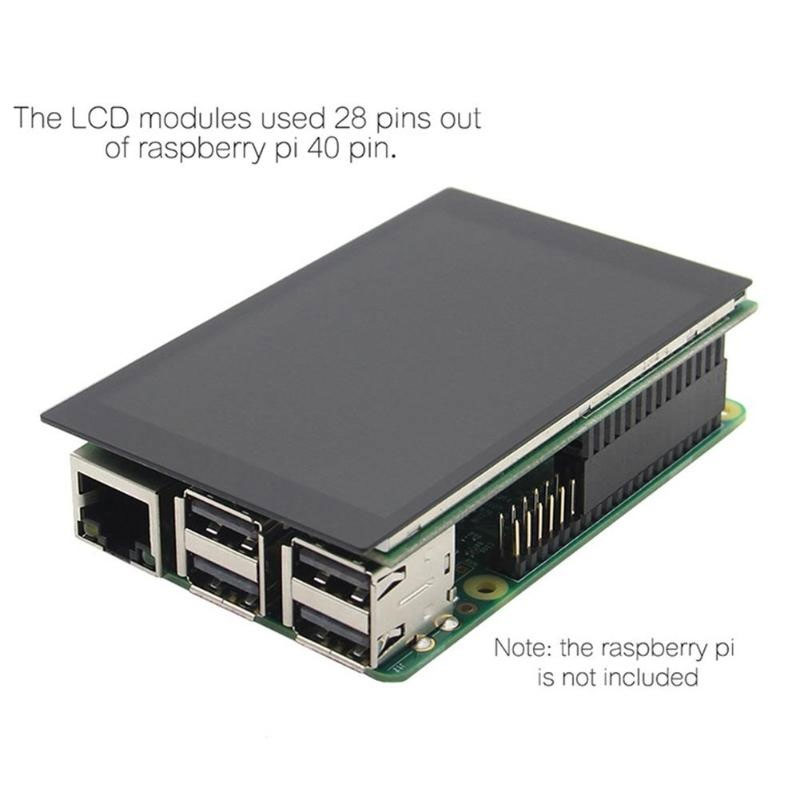 3.5 Inch Display with Model B Heat Sinks For Raspberry Kits Durable PC Computer For RasPi 3 Kits Raspberry Pi 3 Kits