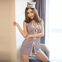 Sexy Stewardess Erotic Costumes Sexy Maid Lingerie Women Exotic Apparel Role Play Erotic Lingerie Sexy Underwear Cosplay Uniform