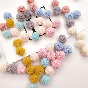 50pcs/lot Mix color DIY Mesh ball for Children Headwear Hair clip Accessories and Garment Accessories(China)