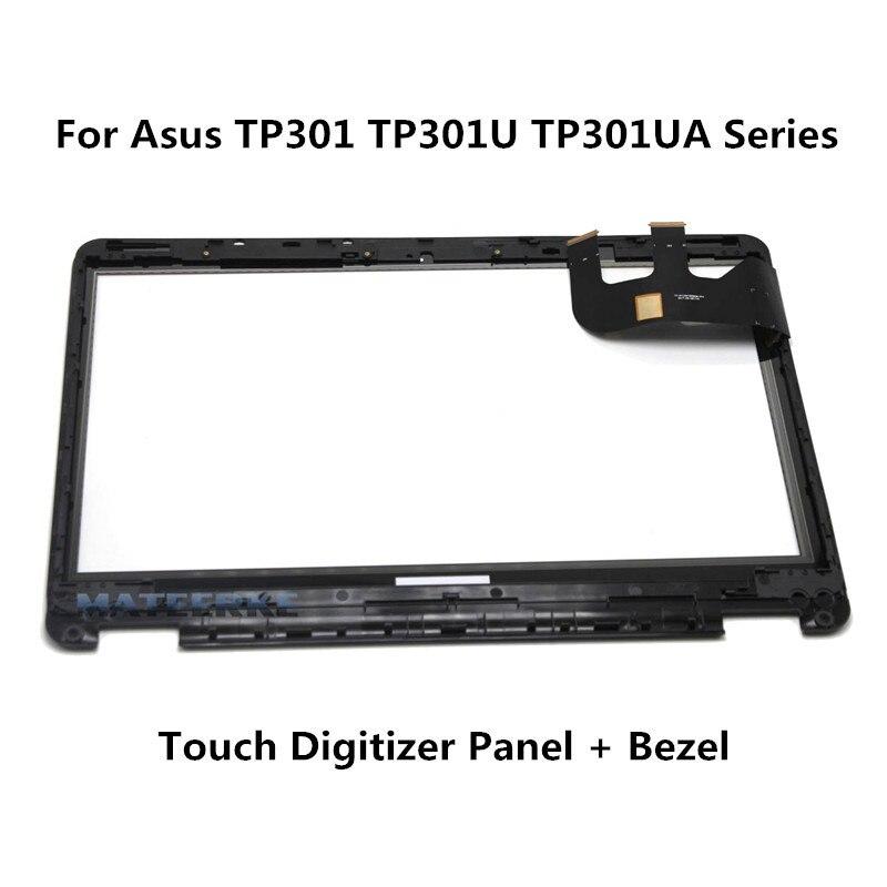 For Asus Transformer Book Flip TP301 TP301UA TP301UJ TP301UA-DW TP301UJ-C Digitizer Touch Screen Glass Lens with Bezel flip cover for asus transformer book