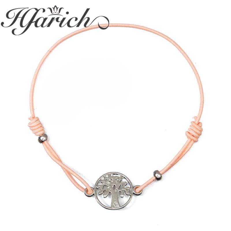 Hfarich Life Tree Charmomg สร้อยข้อมือผู้หญิงเด็ก Lucky String มิตรภาพ Wish สร้อยข้อมือเครื่องประดับ Bijoux ปรับ