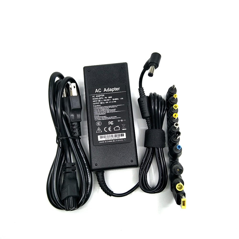 90W <font><b>19</b></font> <font><b>V</b></font> 4.74A Universal Power Adapter Charger For <font><b>Acer</b></font> Asus Dell HP Lenovo Samsung Toshiba Laptop 18.5V <font><b>19</b></font>.5V 20V image