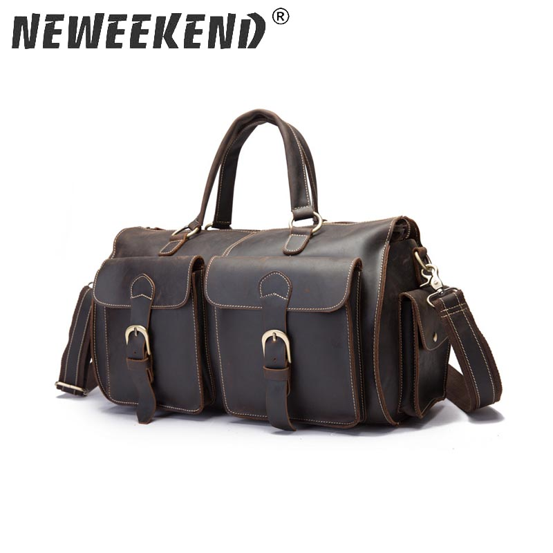 8111,Mens travel bags,luggage,tote,handbas,genuine leather,cowhide,brown color,vintage,free shipping,new,duffle gym bags,8111