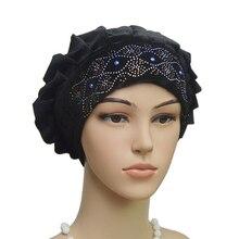 muslim turban inner hijabs women plain wimple headband sleeping india caps arabic mujer hats velvet prayer cap beanie
