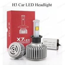 Auto Care X7 H3 Car Led Headlight High Power Diamond Auto 40W X2 White 6000K Repalcement Bi Headlamp for buick free shipping