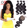 Gossip Girl Peruvian Body Wave With Closure Unprocessed Human Hair Lace Closure With Bundles Peruvian Virgin Hair With Closure