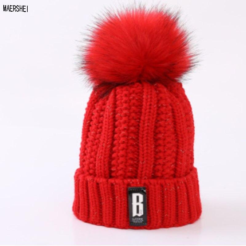 MAERSHEI Winter Female Warm   Skullies     Beanies   Hats Balaclava Men Women Wool Thick Caps Gorras Bonnet Knitted Casual Hat