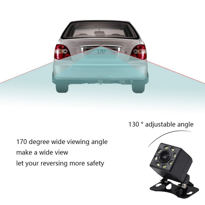Image 3 - 8 LED Lights Car Rear View Camera Night Vision 170 Degree Waterproof Car Dash Camera Auto Reverse Parking Vehicle Camera-in Vehicle Camera from Automobiles & Motorcycles