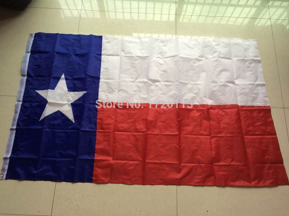 Outdoor Stardard Size 3 x 5 Feet 150x90cm <font><b>Flying</b></font> National Polyester USA <font><b>Texas</b></font> state flag,American flag