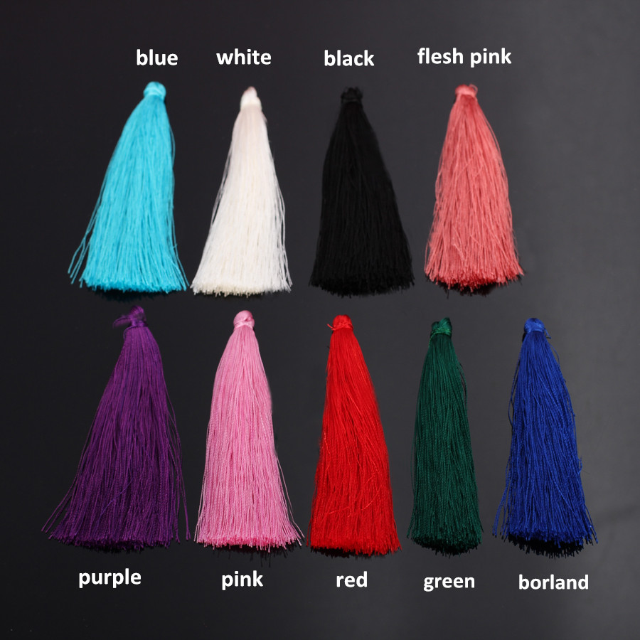 6pcs/lots Chinese Nylon Ployester Silk Tassels For Earring Pendant Jewelry Diy Long...
