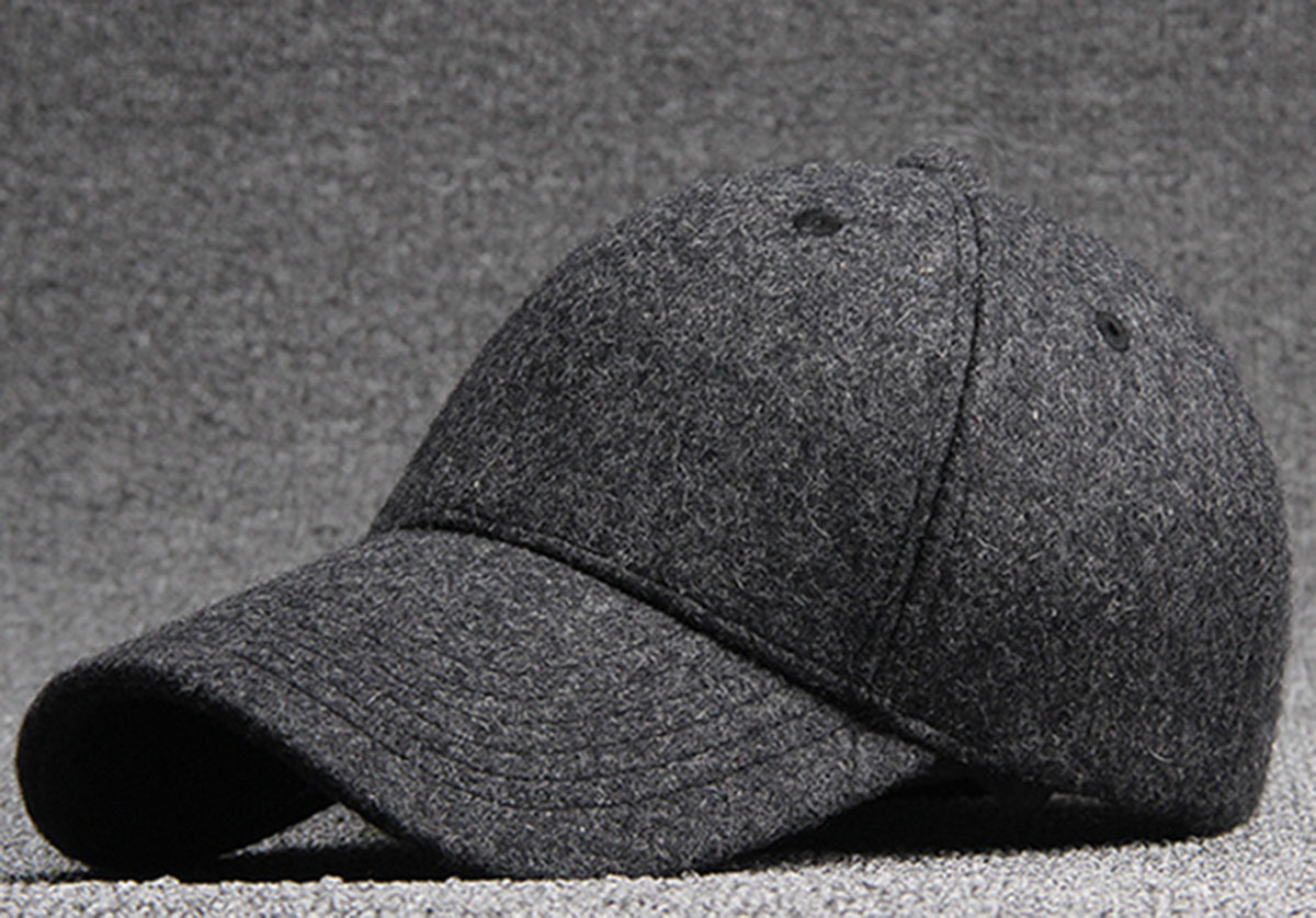 Wholesale Quality Men Grey Wool Felt Baseball Hats Women Plain Black Base Ball  Caps Mens Autumn Warm Blank Adjustable Ball Cap-in Baseball Caps from  Apparel ... 55ad82db0e4