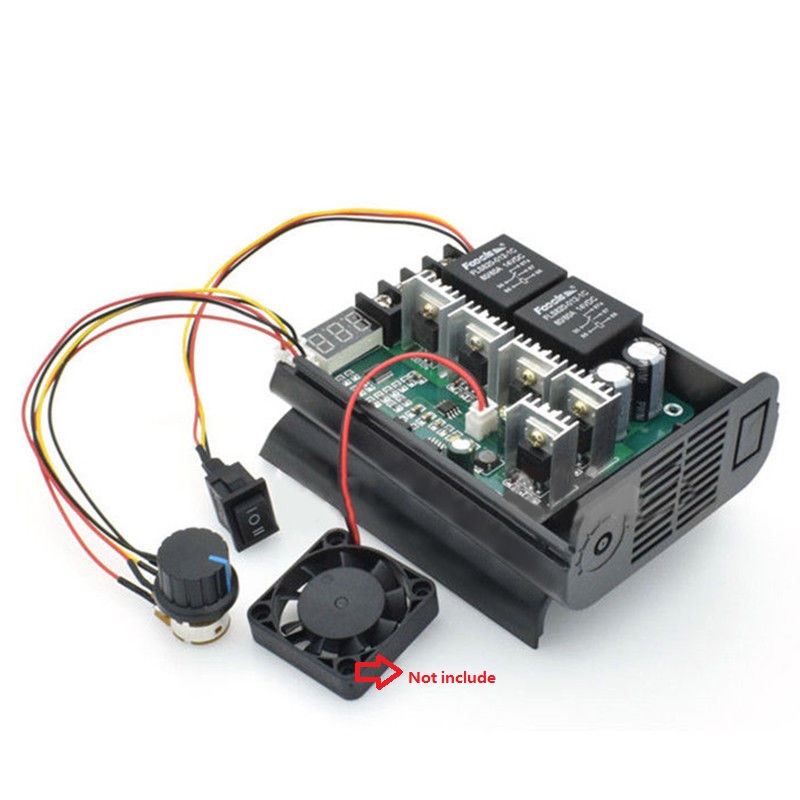 DC 10-55V 12/24/48V 60A PWM Motor Speed Controller CW CCW Reversible Switch LED